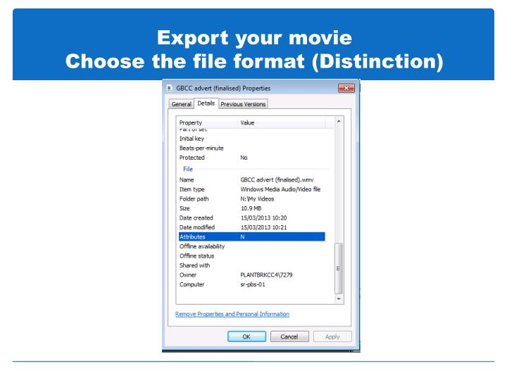 Export your movie