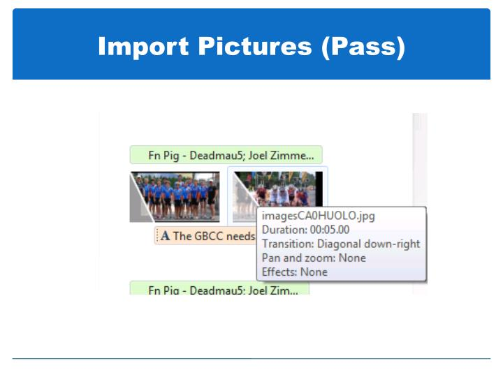 Import pictures pass