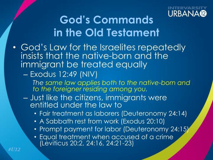 God's Commands