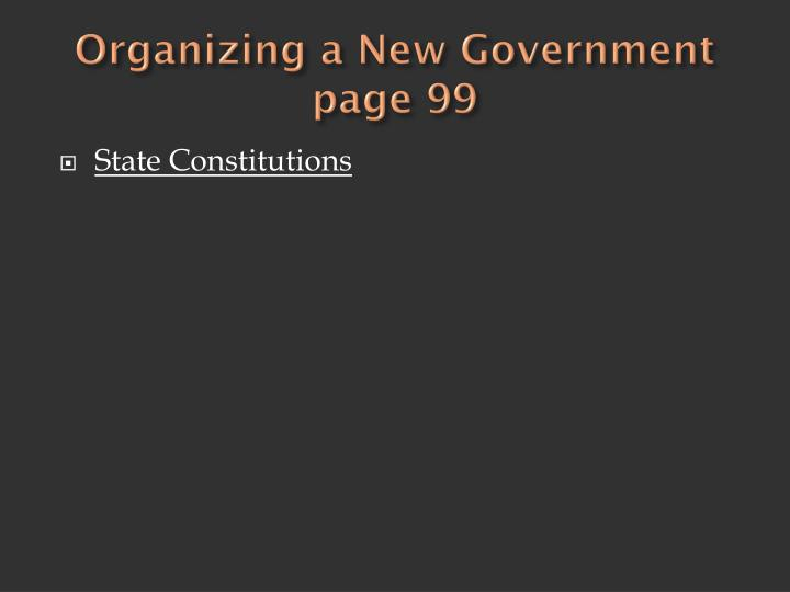 Organizing a New Government