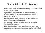 5 principles of effectuation