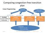 computing congestion free transition plan
