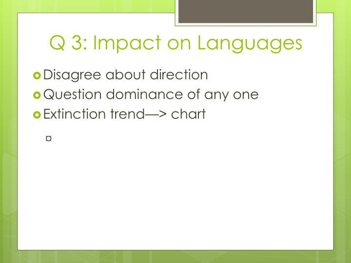 Q 3: Impact on Languages