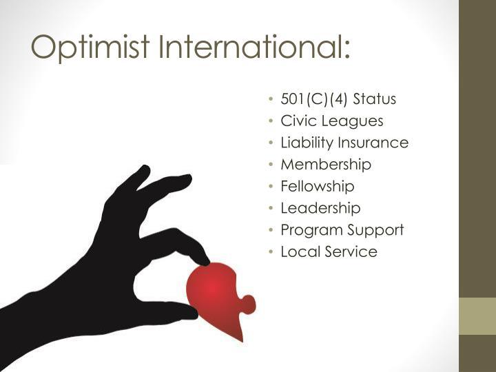 Optimist International: