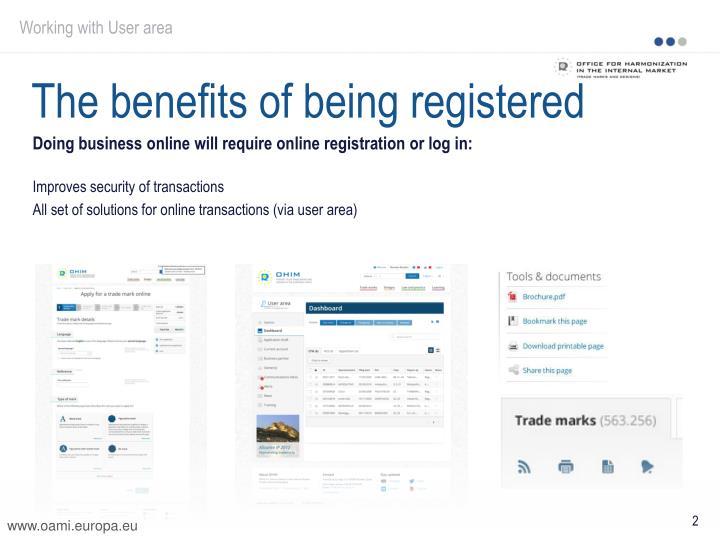 The benefits of being registered