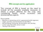 ipm concept and its application