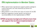 ipm implementation in member s tates