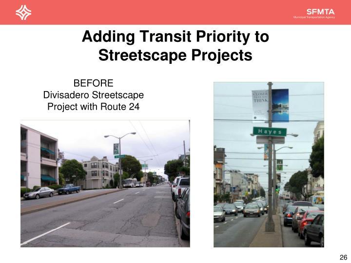 Adding Transit Priority to