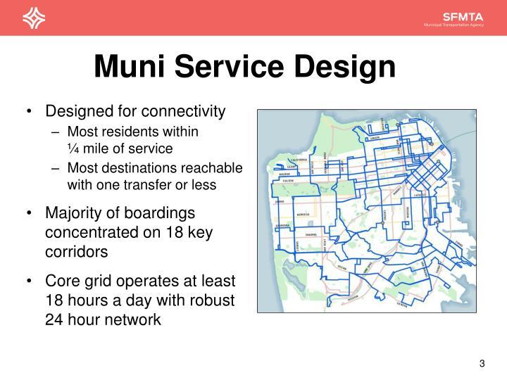Muni service design
