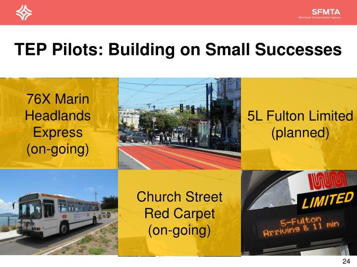 TEP Pilots: Building on Small Successes