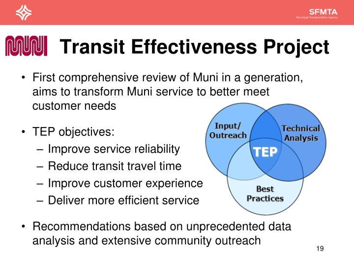 Transit Effectiveness Project