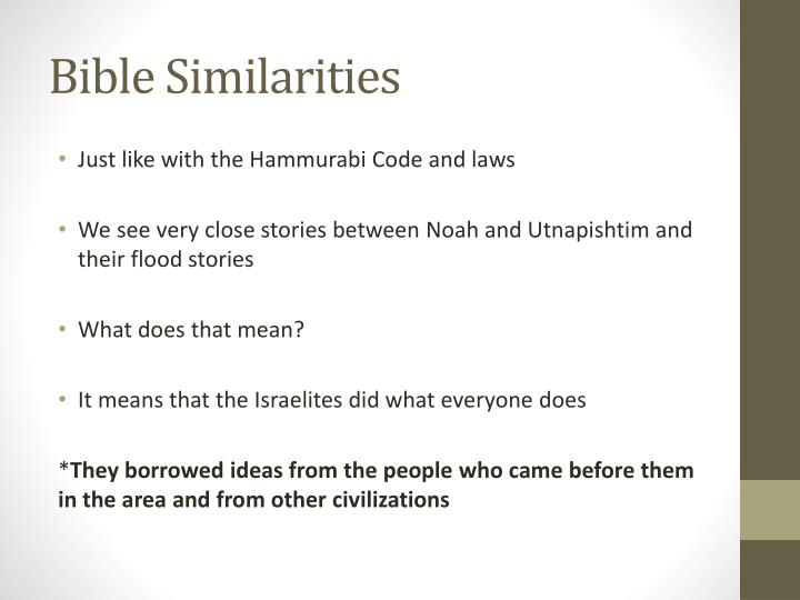 Bible Similarities