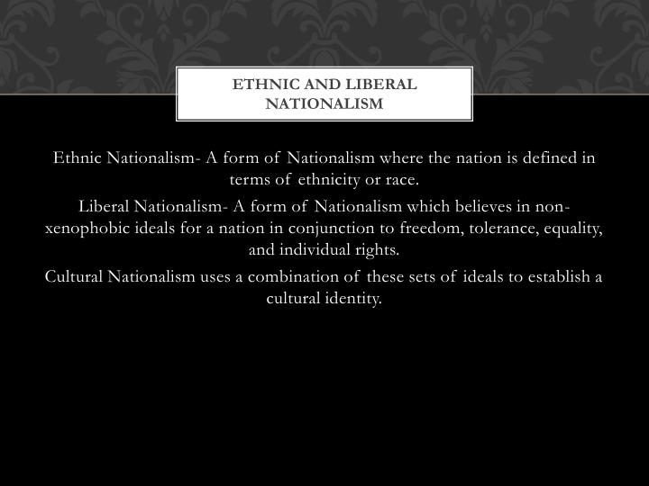 Ethnic and liberal nationalism