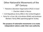 other nationalist movements of the 20 th century