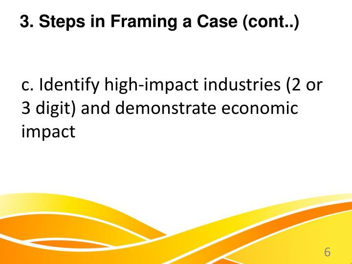 c. Identify high-impact industries (2 or 3 digit) and demonstrate economic impact