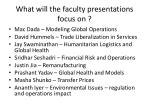 what will the faculty presentations focus on