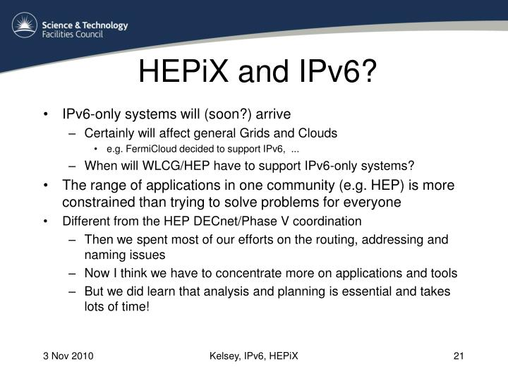 HEPiX and IPv6?