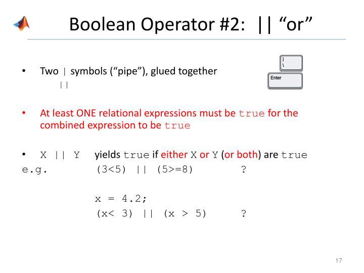 Boolean Operator #2