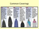 common coverings