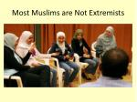 most muslims are not extremists