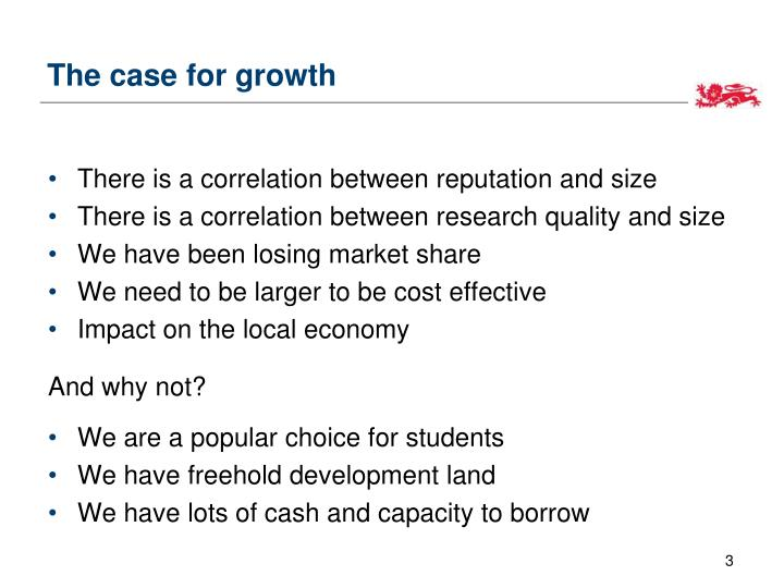 The case for growth