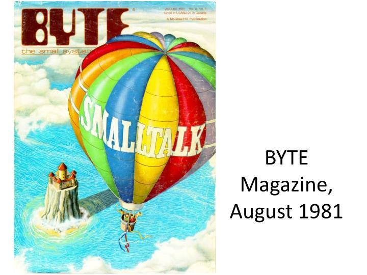 BYTE Magazine, August 1981