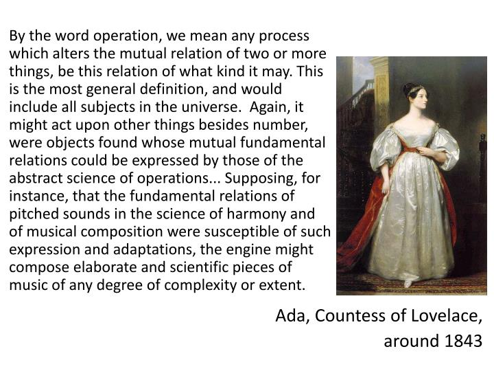By the word operation, we mean any process which alters the mutual relation of two or more things, be this relation of what kind it may. This is the most general definition, and would include all subjects in the universe.  Again, it might act upon other things besides number, were objects found whose mutual fundamental relations could be expressed by those of the abstract science of