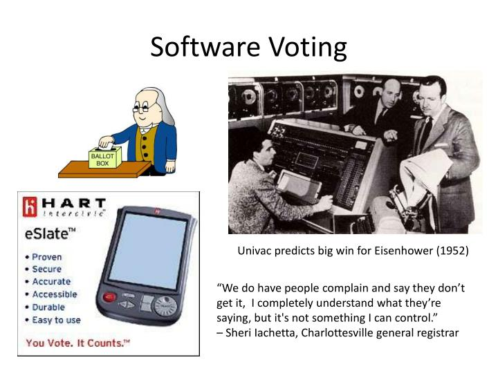 Software voting