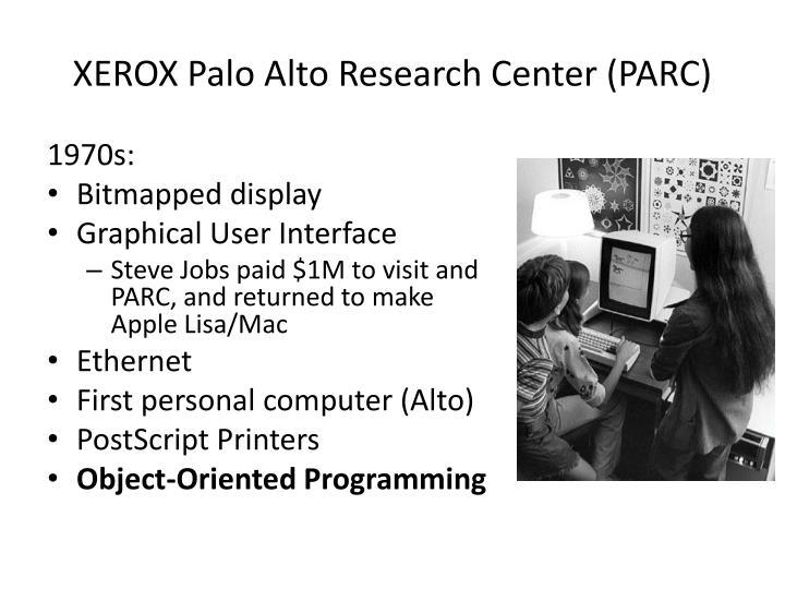 XEROX Palo Alto Research Center (PARC)