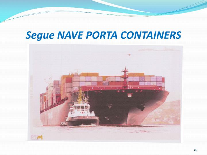Segue NAVE PORTA CONTAINERS