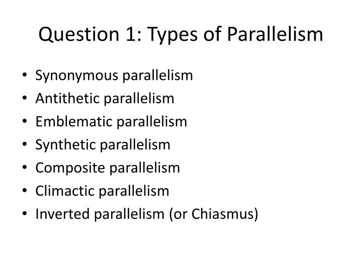Question 1 types of parallelism