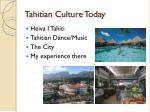 tahitian culture today
