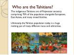 who are the tahitians