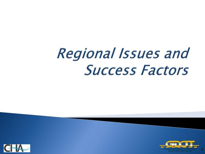 Regional Issues and Success Factors