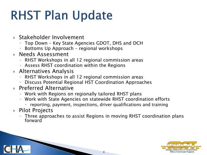 RHST Plan Update