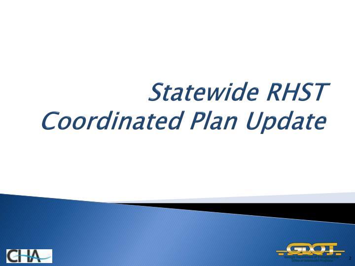 Statewide rhst coordinated plan update