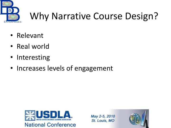 Why Narrative Course Design?