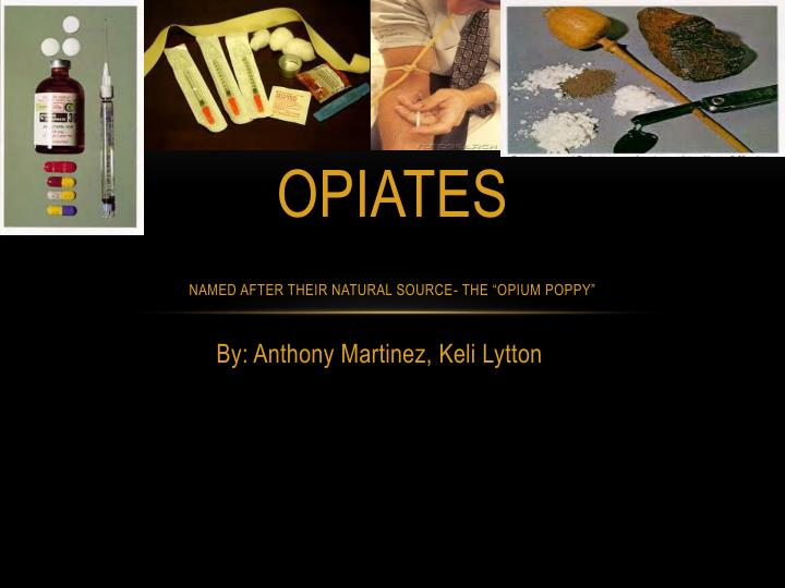 Opiates named after their natural source the opium poppy