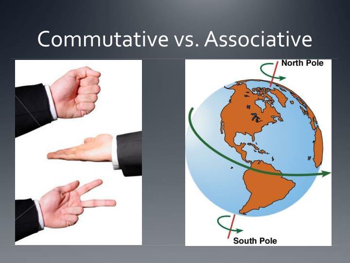 Commutative vs. Associative