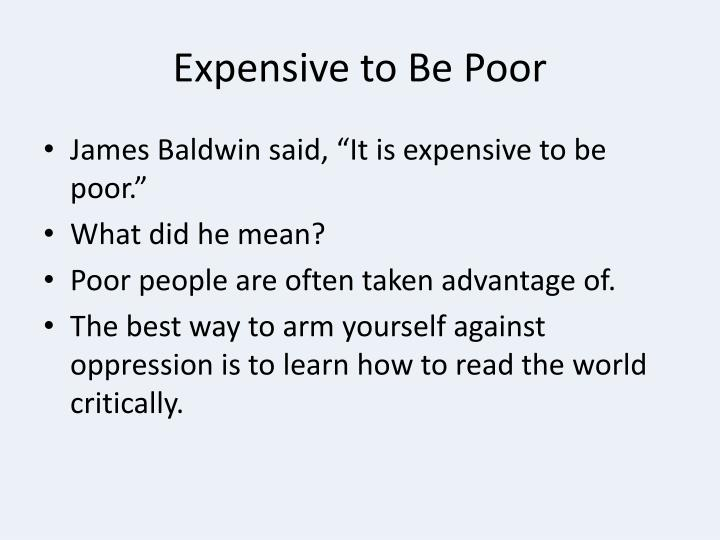 Expensive to Be Poor