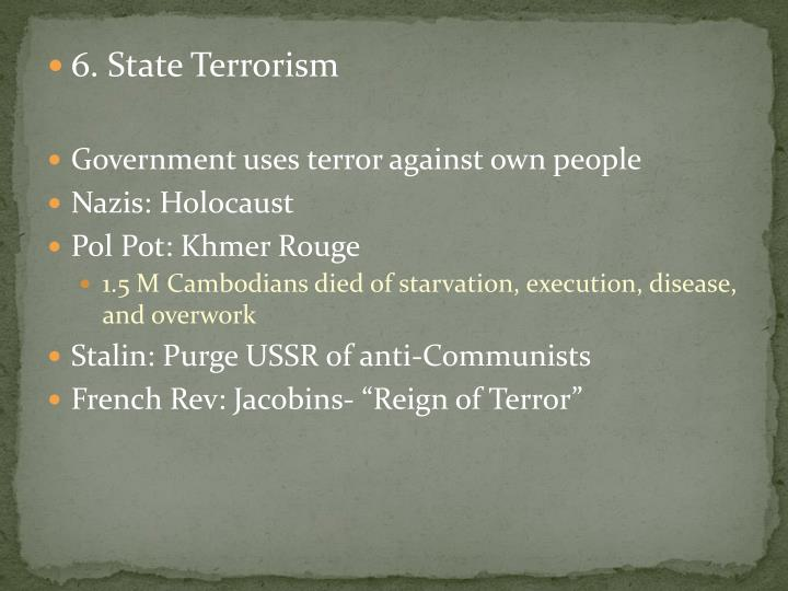 6. State Terrorism