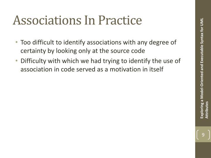 Associations In Practice