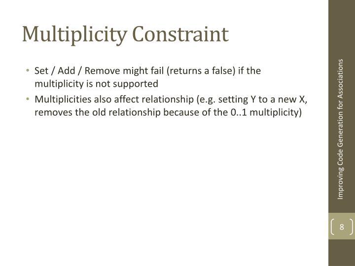 Multiplicity Constraint