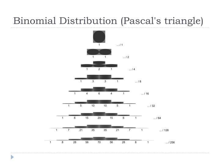 Binomial Distribution (Pascal's triangle)