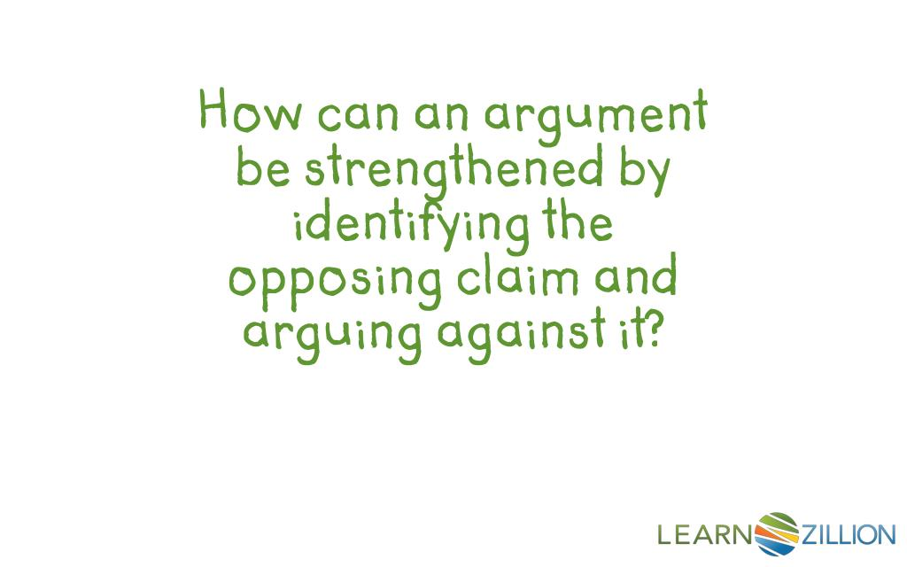 opposing argument