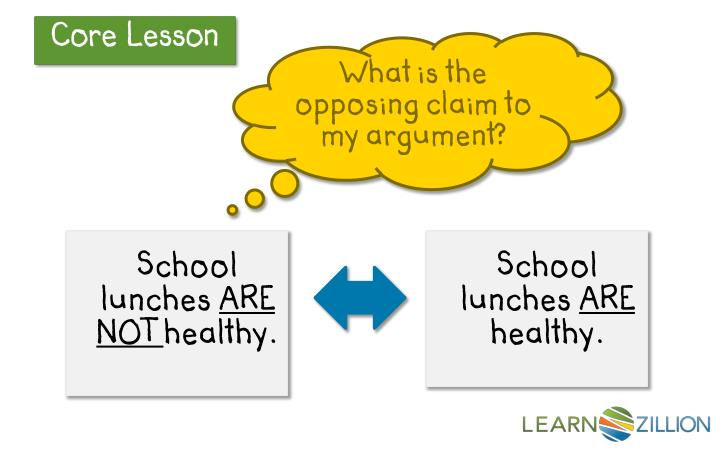 What is the opposing claim to my argument?