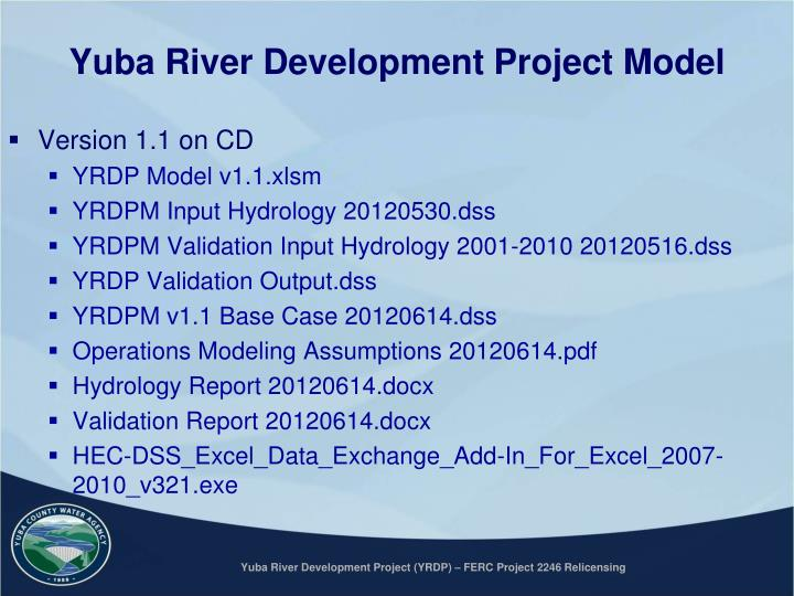 Yuba River Development Project Model