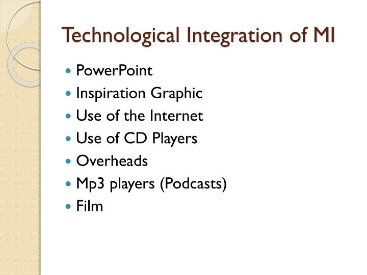 Technological Integration of MI