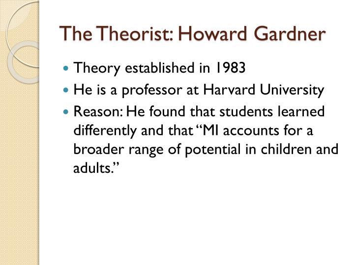 The theorist howard gardner