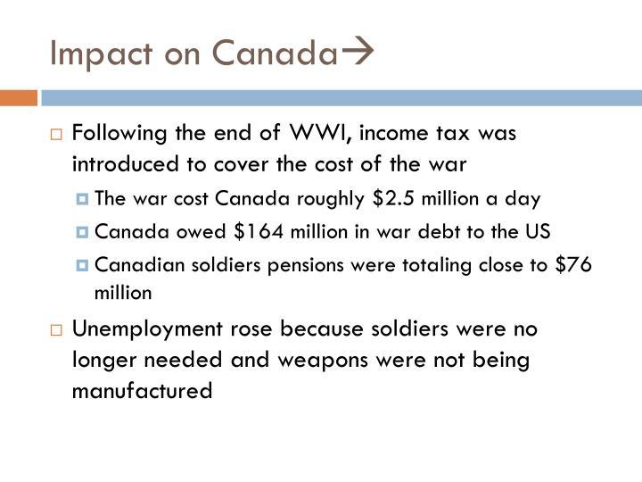 Impact on Canada